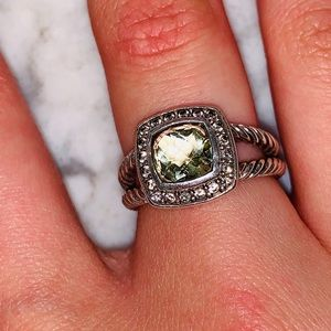 David Yurman Petite Albion ring in Prasiolite